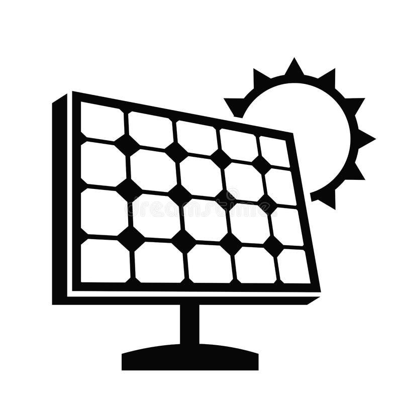 Sonnenkollektorikone vektor abbildung