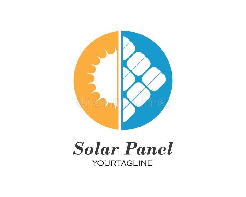Sonnenkollektorlogo-Vektorikone stock abbildung
