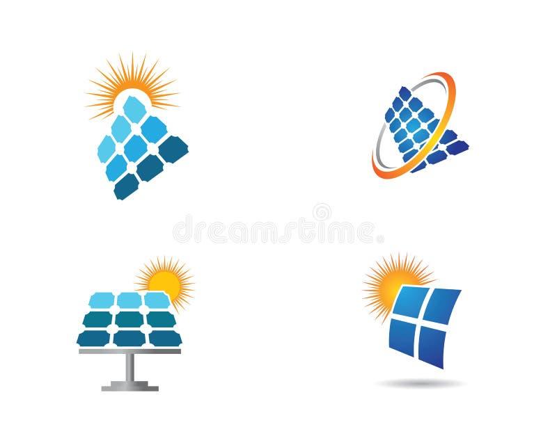 Sonnenkollektorlogoillustration stock abbildung