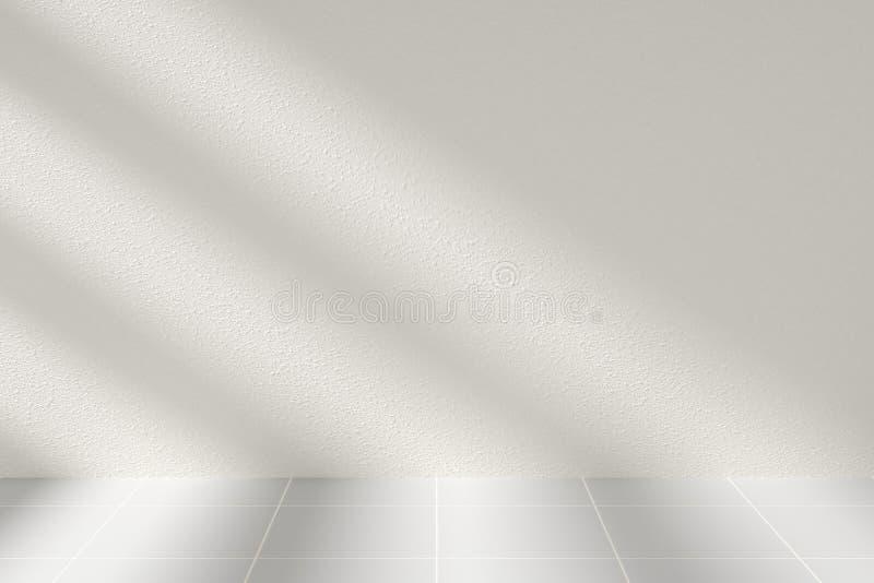 Sonnenlicht und Schatten im Raum lizenzfreie abbildung