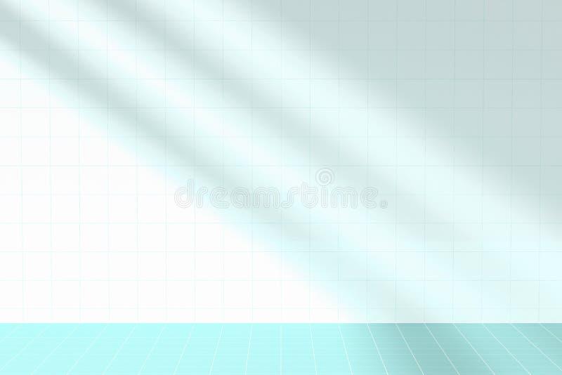 Sonnenlicht und Schatten im Raum vektor abbildung