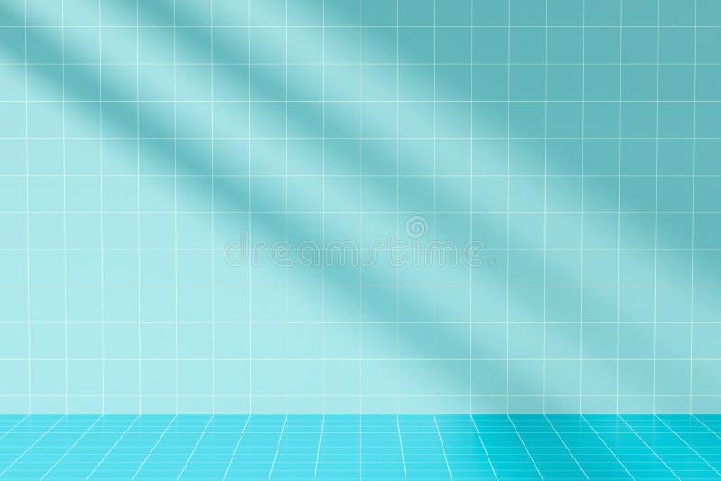 Sonnenlicht und Schatten im Raum stock abbildung