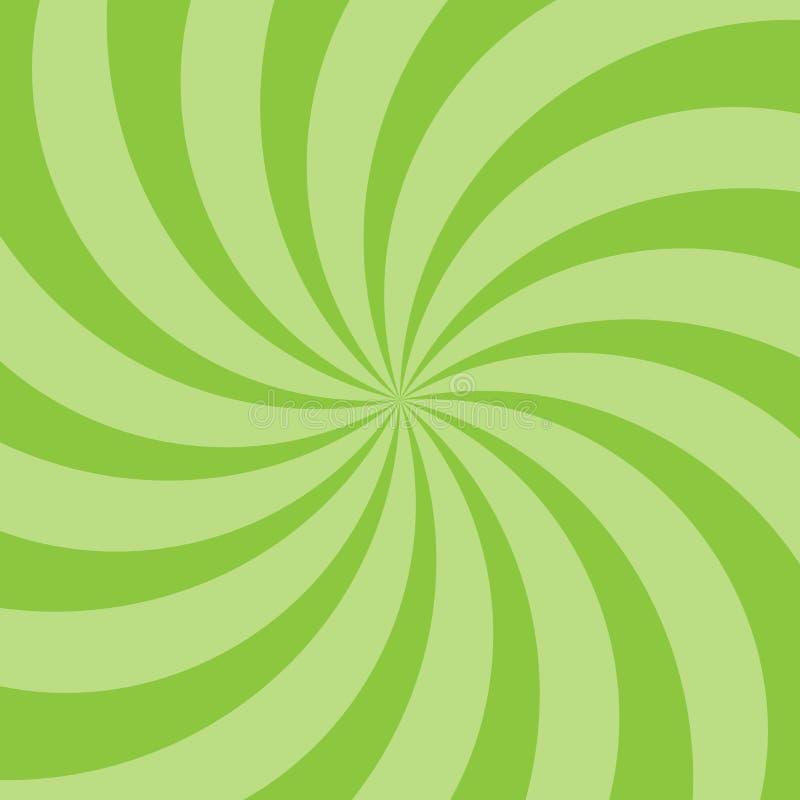 Sonnenlichtspiralenhintergrund Gr?ner Sonnendurchbruchhintergrund Auch im corel abgehobenen Betrag stockbilder