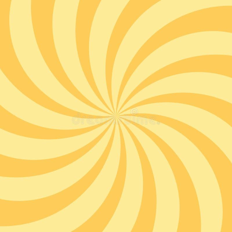 Sonnenlichtspiralenhintergrund Orange Sonnendurchbruchhintergrund lizenzfreie stockbilder