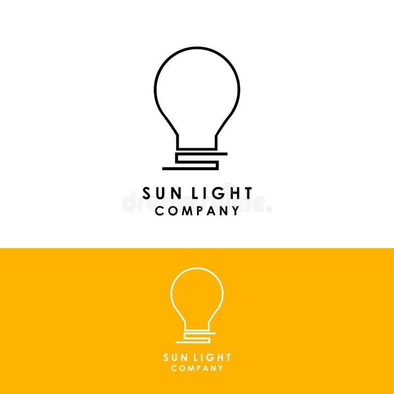 Sonnenlogoschablone, Entwurfsvektor, Ikone lizenzfreie abbildung
