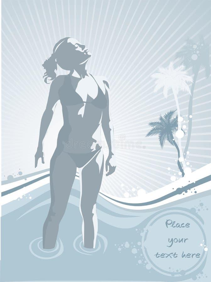 Sonnenschein auf dem Strand lizenzfreie abbildung