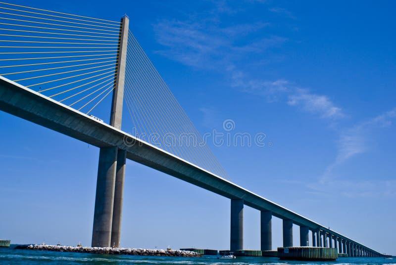 Sonnenschein Skyway Brücke stockfotos