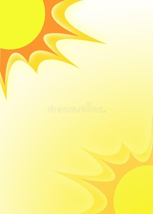 Sonnenscheinabbildung vektor abbildung