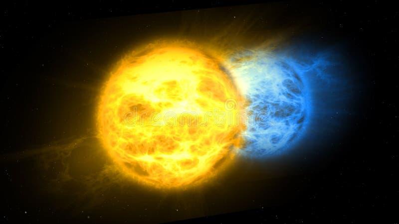 Sonnensonnensystem Albireo zwei vektor abbildung