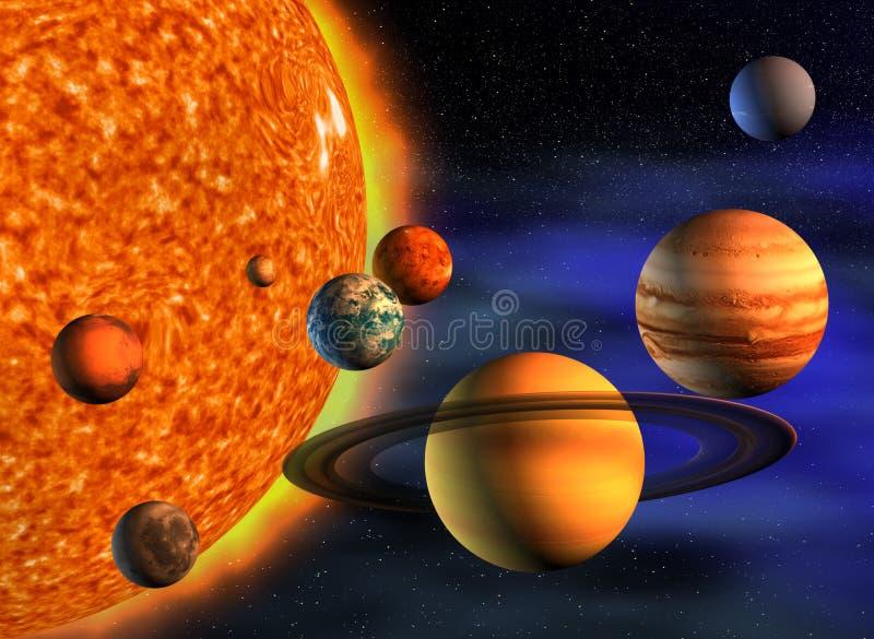 Sonnensystem stock abbildung
