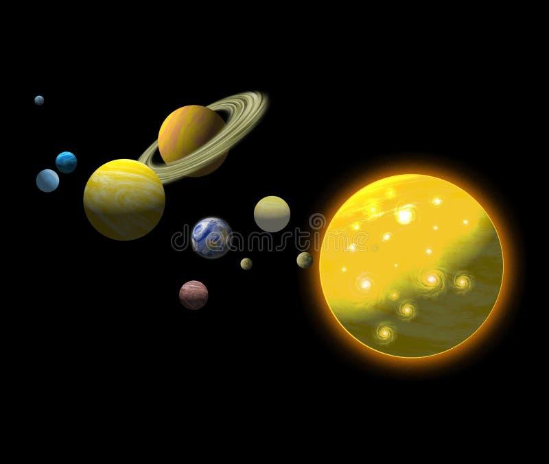 Sonnensystem lizenzfreie abbildung