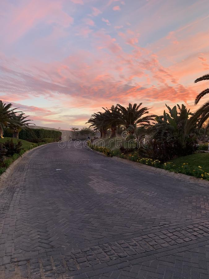 Sonnenuntergänge in Ägypten stockfoto