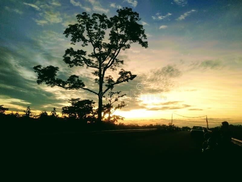 Sonnenuntergänge lizenzfreie stockbilder