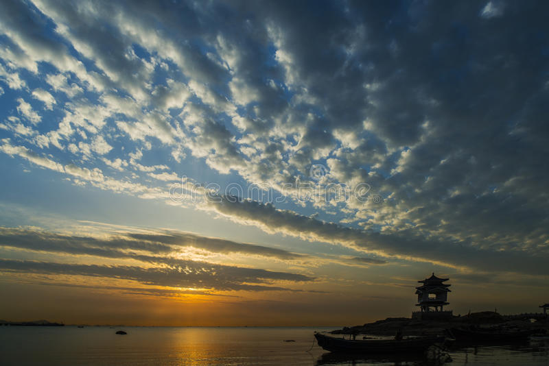 Sonnenuntergänge im dawnlight stockfotografie