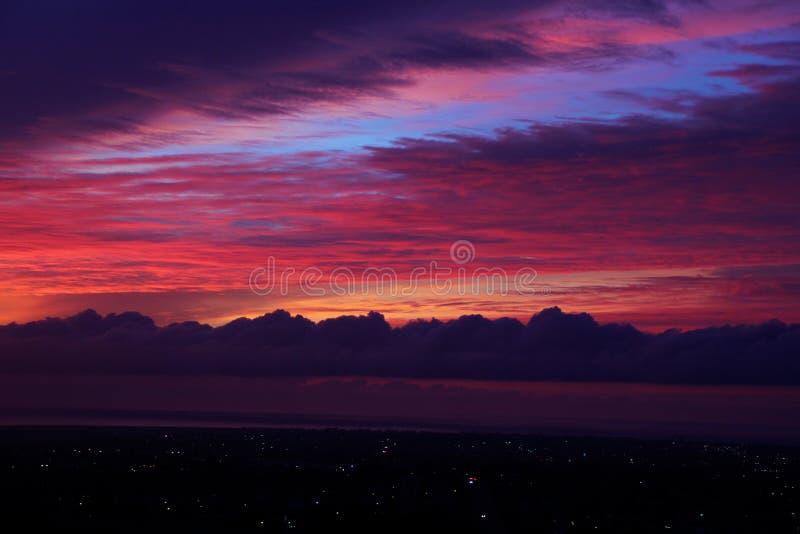 Sonnenuntergänge, Schönheit und die Liebe des Gottes stockfoto
