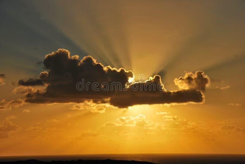 Sonnenuntergang über dem Atlantik stockbilder