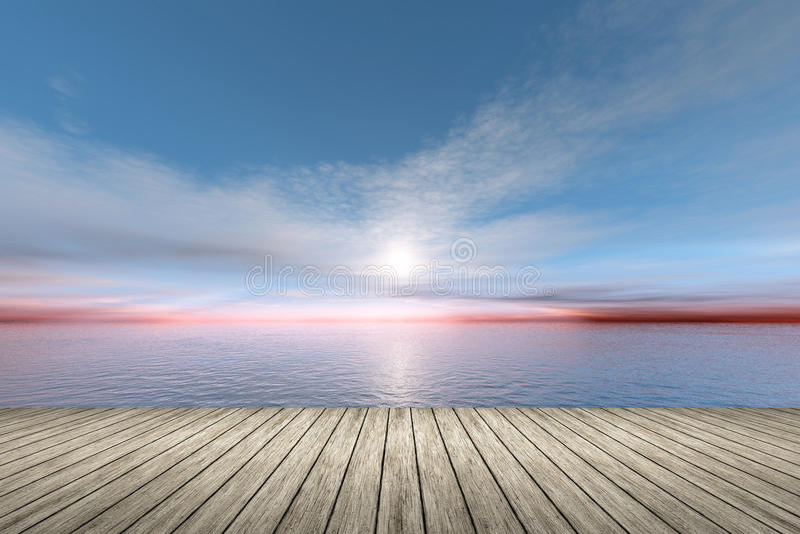 Sonnenuntergang über dem Ozean stock abbildung