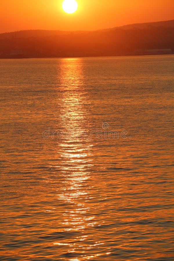 Sonnenuntergang über dem Schwarzen Meer stockfoto
