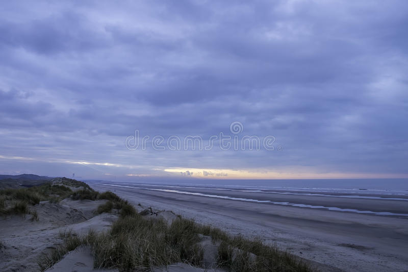 Sonnenuntergang über der Nordsee stockbilder