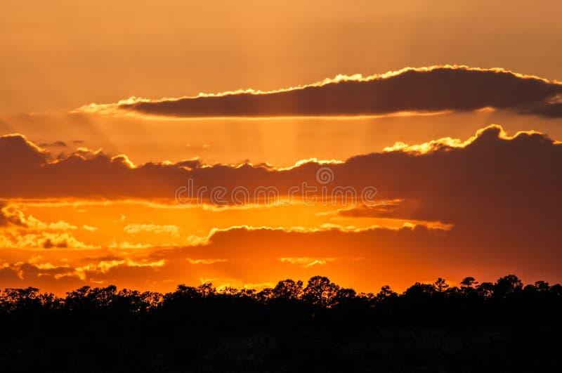 Sonnenuntergang über Grand Canyon lizenzfreie stockbilder