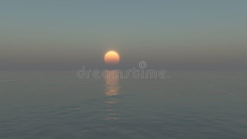 Ruhige Sonneeinstellung lizenzfreie stockfotografie