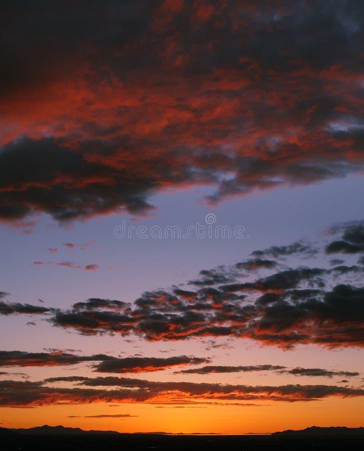 Sonnenuntergang über Salt Lake-Tal stockfoto