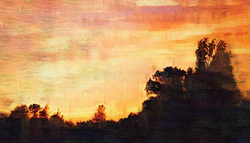 Sonnenuntergang stock abbildung