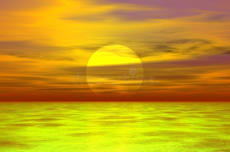 Sonnenuntergang 3D vektor abbildung