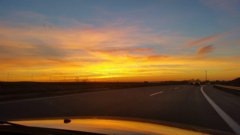 Sonnenuntergang stock fotografie