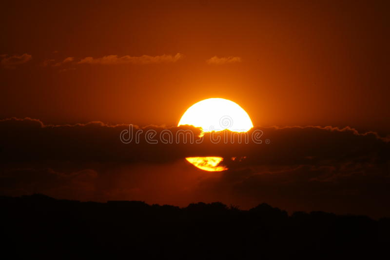 Sonnenuntergang in Afrika stockbild