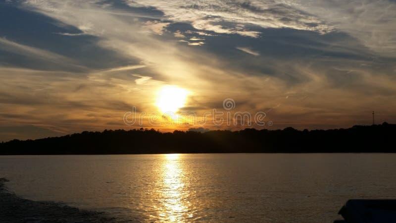 Sonnenuntergang in Alabama stockbilder