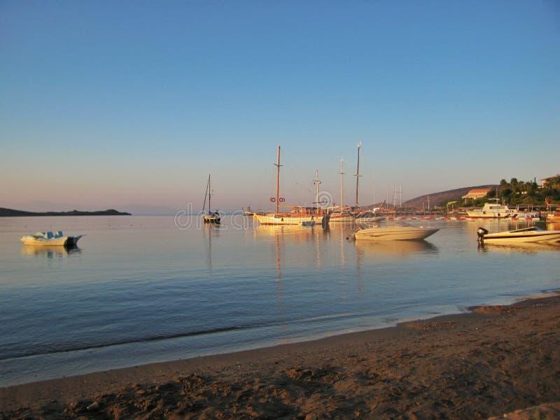 Sonnenuntergang auf Ägäischem Meer lizenzfreie stockfotografie