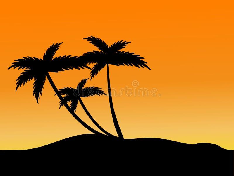 Sonnenuntergang auf dem Strand vektor abbildung