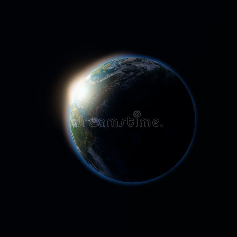 Sonnenuntergang auf der Erde stockbild
