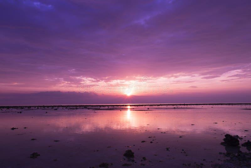 Sonnenuntergang auf Gili Trawangan stockfotos