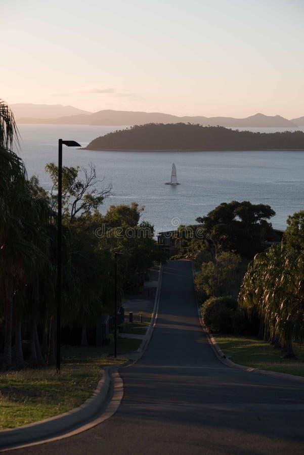 Sonnenuntergang auf Hamilton Island, Australien lizenzfreies stockbild