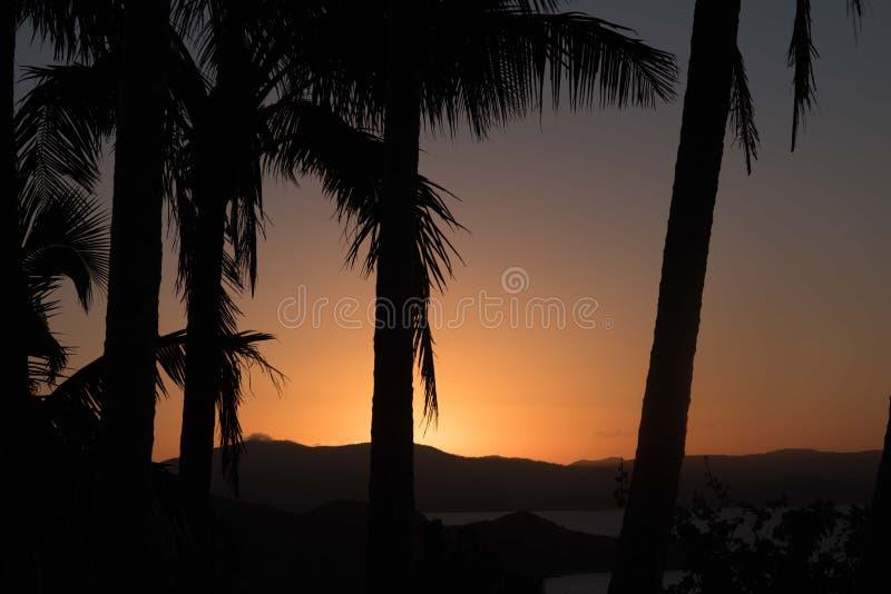 Sonnenuntergang auf Hamilton Island, Australien stockfoto