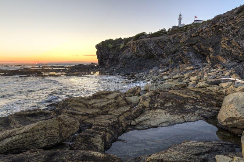 Sonnenuntergang auf Hummer-Bucht-Kopf stockfotos