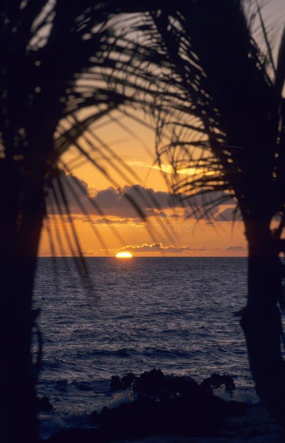 Sonnenuntergang auf Ozean - Bayahibe - Dominikanische Republik stockfotografie