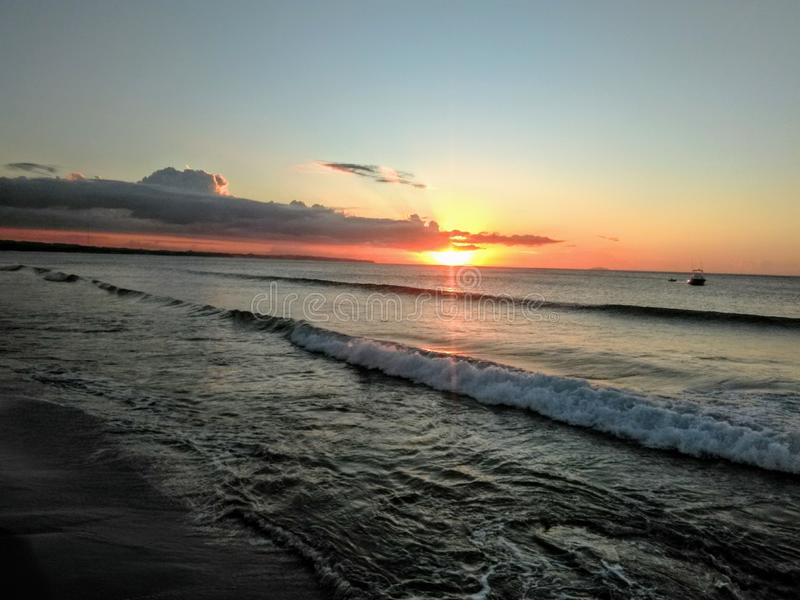 Sonnenuntergang auf Puerto Rico lizenzfreies stockfoto