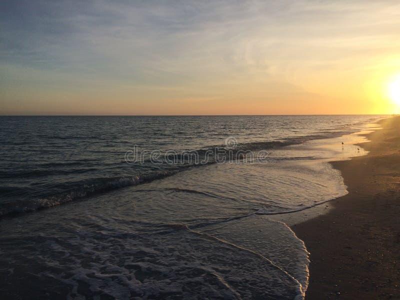 Sonnenuntergang auf Sanibel lizenzfreies stockbild
