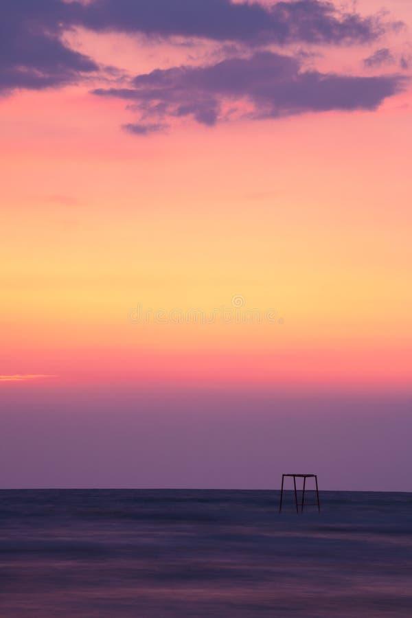 Sonnenuntergang auf Schwarzem Meer lizenzfreies stockfoto