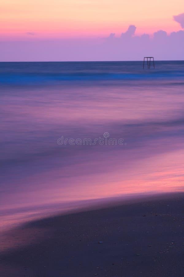 Sonnenuntergang auf Schwarzem Meer lizenzfreies stockbild
