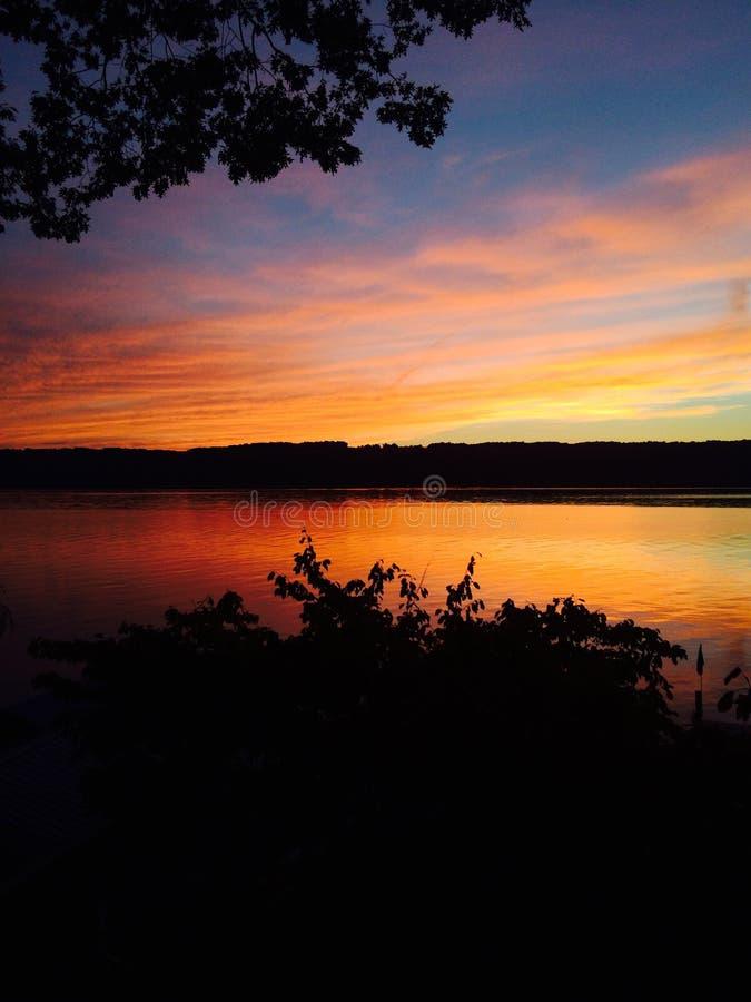 Sonnenuntergang auf Seneca stockfotos