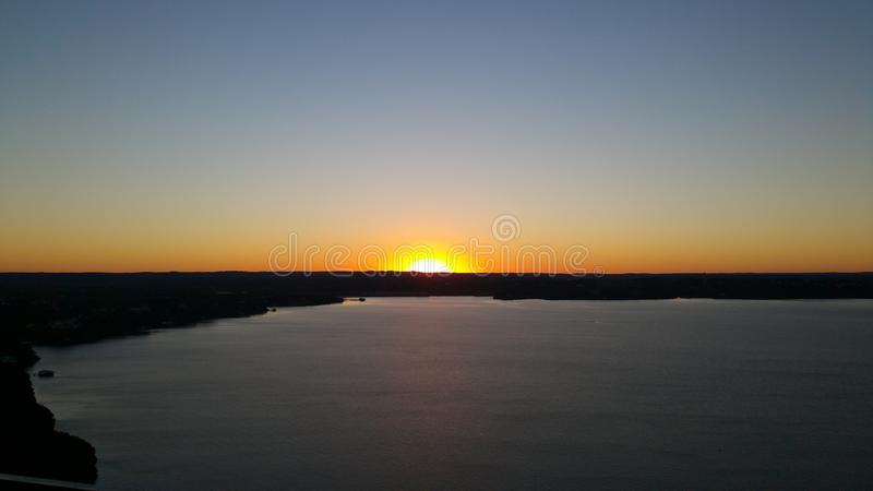 Sonnenuntergang auf Turkey See stockfotografie