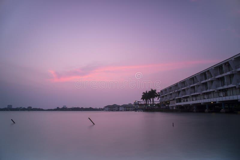 Sonnenuntergang auf Westsee stockfotos