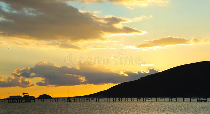 Sonnenuntergang Avila-Strand Kalifornien stockfotografie