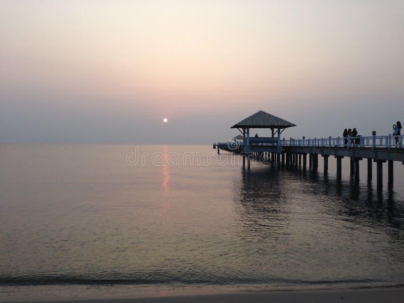 Sonnenuntergang @ bangsean stockbild