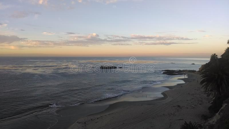 Sonnenuntergang bei Süd-Kalifornien stockfotos