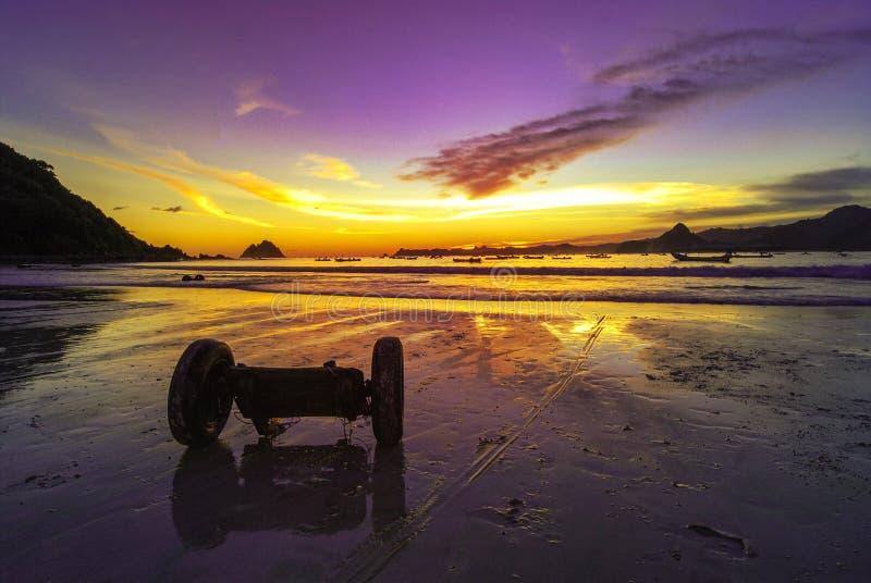 Sonnenuntergang bei Selong lizenzfreie stockfotografie